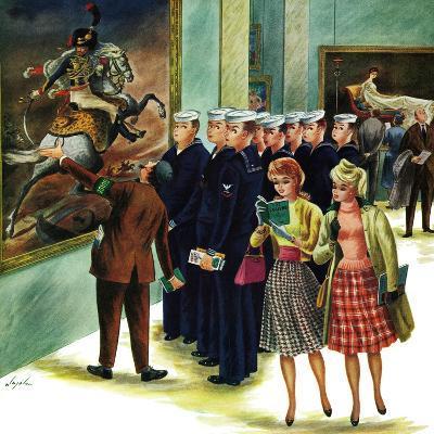 """Girl-Watching Sailors,"" August 12, 1961-Constantin Alajalov-Giclee Print"