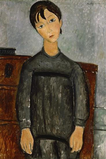 Girl with a Black Apron-Amadeo Modigliani-Giclee Print