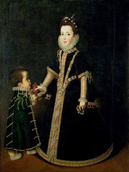 Girl with a Dwarf, Thought to be a Portrait of Margarita of Savoy-Sofonisba Anguisciola-Giclee Print