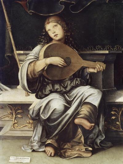 Girl with a Lute-Francesco Francia-Giclee Print