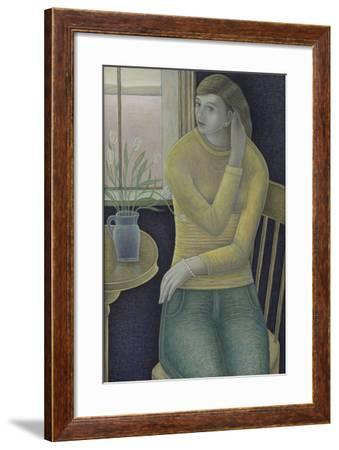 Girl with a Pearl Bracelet, 2015-Ruth Addinall-Framed Giclee Print