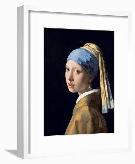 Girl with a Pearl Earring, C.1665-6-Johannes Vermeer-Framed Giclee Print