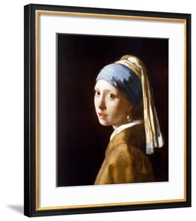 Girl with a Pearl Earring-Johannes Vermeer-Framed Art Print