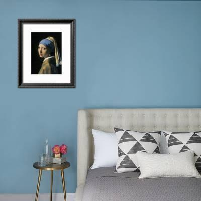 Johannes Vermeer Girl With a Pearl Earring Toile Wall Art Square Print