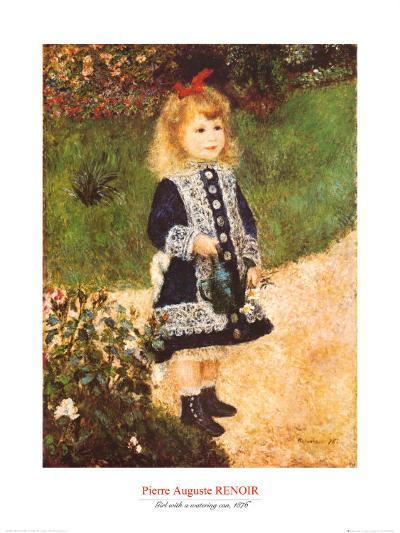 Girl with a Watering Can-Pierre-Auguste Renoir-Art Print