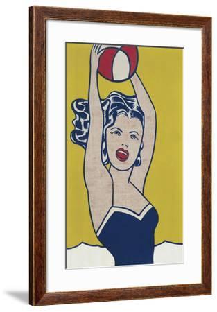 Girl with Ball-Roy Lichtenstein-Framed Art Print