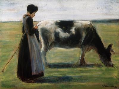 Girl with Cow, 19th Century-Max Liebermann-Giclee Print