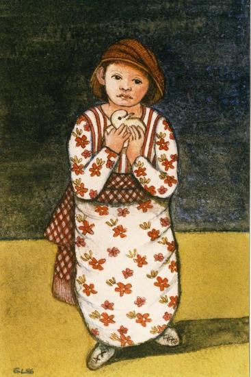 Girl with Dove, 1986-Gillian Lawson-Giclee Print