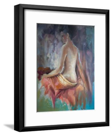 Girl With Earing-Anne Farrall Doyle-Framed Art Print