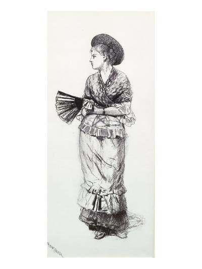 Girl with Fan-Winslow Homer-Giclee Print