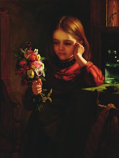 Girl with Flowers-John Davidson-Giclee Print