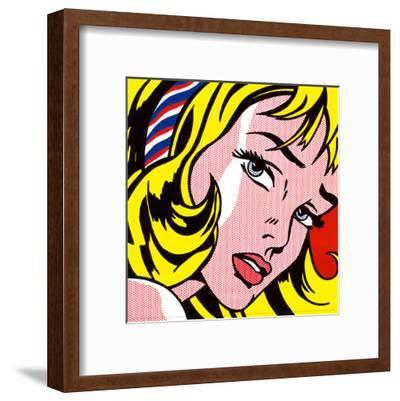 Girl with Hair Ribbon, c.1965-Roy Lichtenstein-Framed Art Print