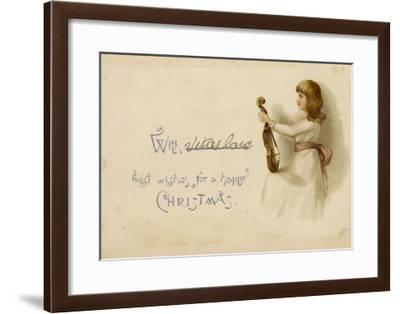 Girl with Her Violin--Framed Giclee Print