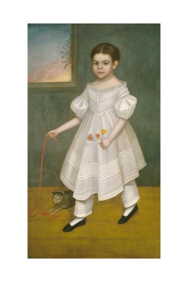 Girl with Kitten, 1836-38-Joseph Goodhue Chandler-Giclee Print