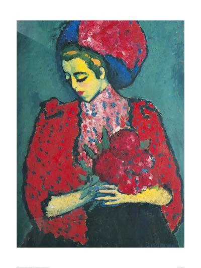 Girl with Peonies-Alexej Von Jawlensky-Giclee Print