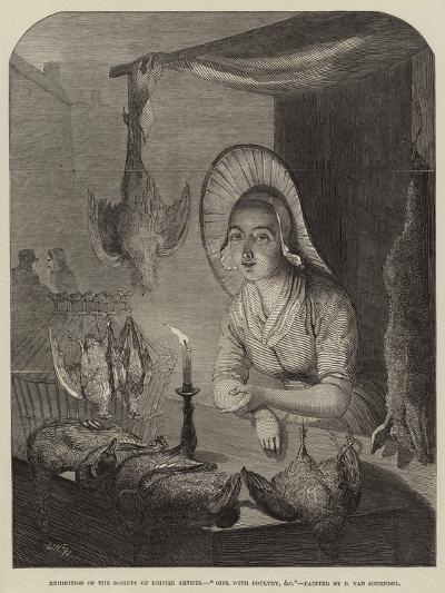Girl with Poultry, Etc-Petrus van Schendel-Giclee Print