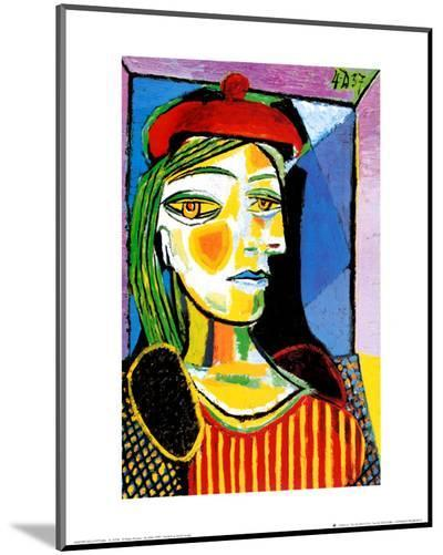 Girl with Red Beret-Pablo Picasso-Mounted Print