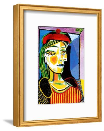 Girl with Red Beret-Pablo Picasso-Framed Art Print