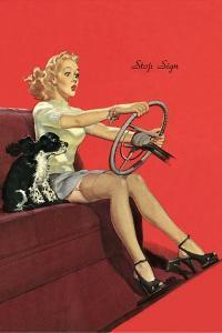 Girl with Steering Wheel