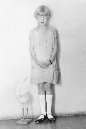 Girl with Stork, Mexico City, C.1926-Tina Modotti-Photographic Print