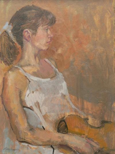 Girl with Violin, 2007-Pat Maclaurin-Giclee Print