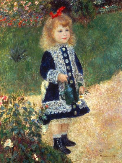 Girl with Watering Can, 1876-Pierre-Auguste Renoir-Premium Giclee Print