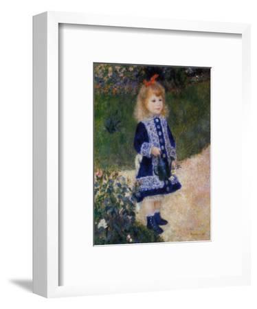 Girl with Watering Can-Pierre-Auguste Renoir-Framed Art Print