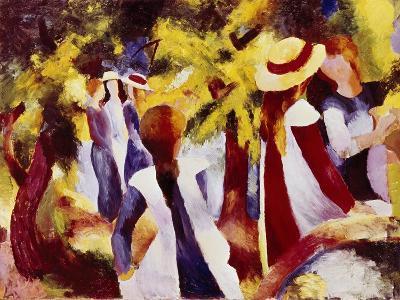 Girls Among Trees-Auguste Macke-Giclee Print