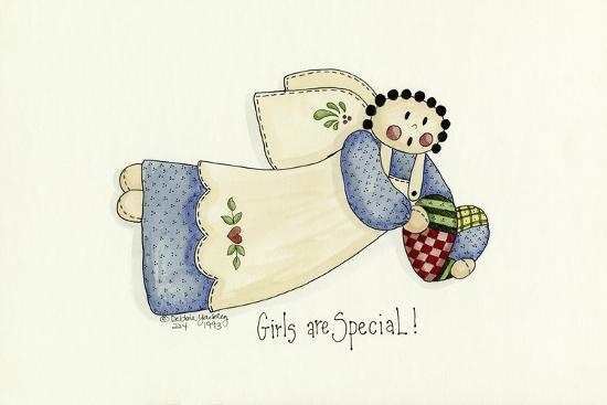 Girls are Special Angel-Debbie McMaster-Giclee Print