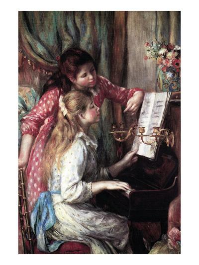 Girls at the Piano-Pierre-Auguste Renoir-Art Print