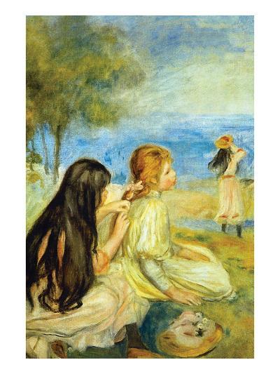 Girls by the Seaside-Pierre-Auguste Renoir-Art Print