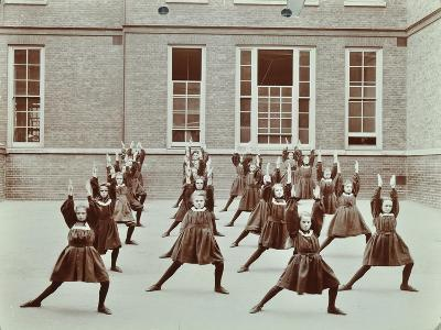 Girls Exercise Drill, Montem Street School, Islington, London, 1906--Photographic Print