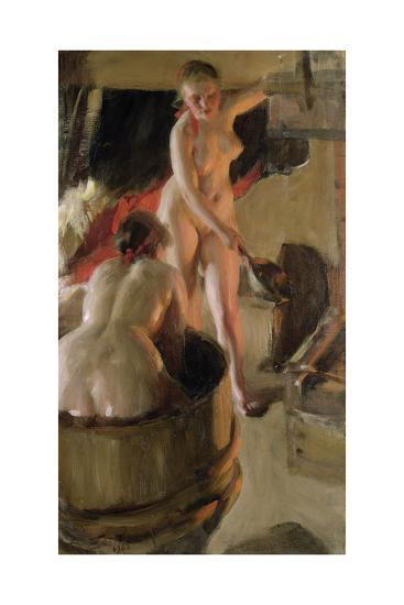 Girls from Dalarna Having a Bath, 1908-Anders Leonard Zorn-Giclee Print