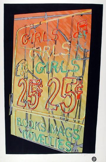 Girls, Girls, Girls-Cindy Wolsfeld-Serigraph