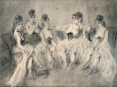 Girls in a Bordello-Constantin Guys-Giclee Print