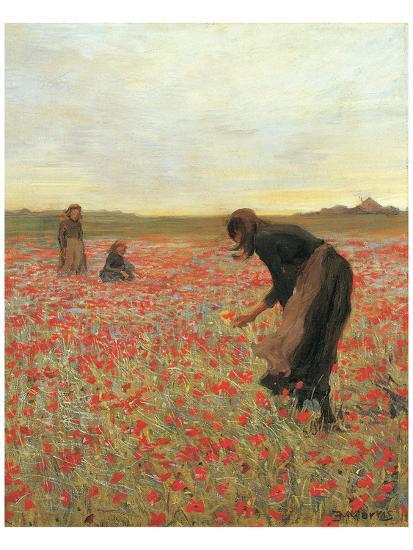 Girls in Poppy Field-Lawren Morris-Art Print