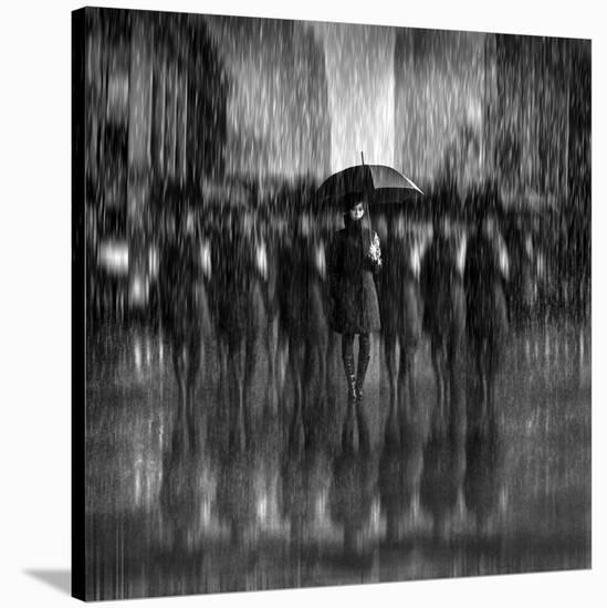 Girls In The Rain-Antonyus Bunjamin (Abe)-Stretched Canvas Print