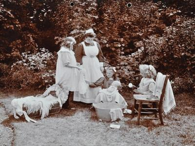 Girls Learning Infant Care, Birley House Open Air School, Forest Hill, London, 1908