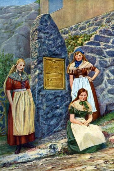 Girls of Strimi Island, Denmark, C1922- Danish Legation-Giclee Print