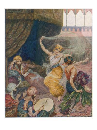 Girls of the Harem Dance to Entertain their Maharajah--Giclee Print