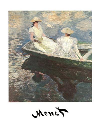 Girls on a Boat-Claude Monet-Art Print