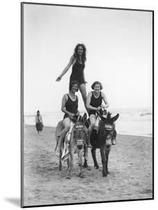 Girls on Donkeys 1920S