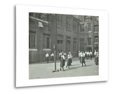 Girls Playing Netball in the Playground, William Street Girls School, London, 1908