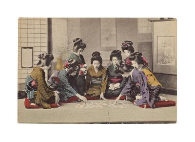 Girls Playing Uta-Garuta- The Kyoto Collection-Premium Giclee Print