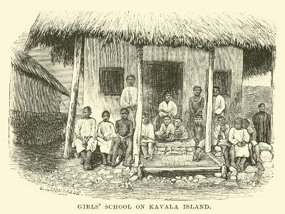 Girls' School on Kavala Island--Giclee Print