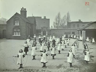 Girls Skipping, Rushmore Road Girls School, Hackney, 1908--Photographic Print