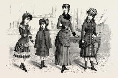 Girls' Winter Costumes, Fashion, 1882--Giclee Print