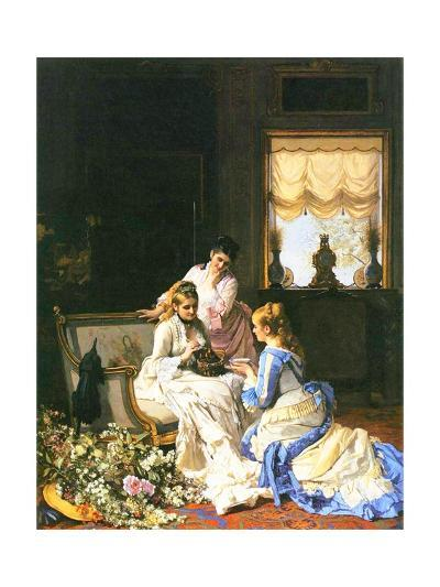 Girls with a Nest-Charles Baugniet-Giclee Print