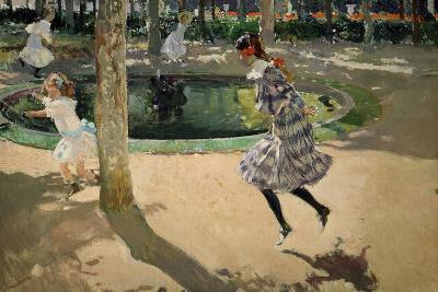 Girls with Skipping Ropes. Saltando a La Comba, 1907-Joaqu?n Sorolla y Bastida-Giclee Print