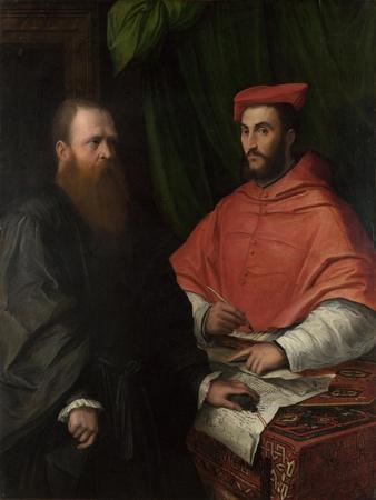 Cardinal Ippolito De' Medici and Monsignor Mario Bracci, after 1532
